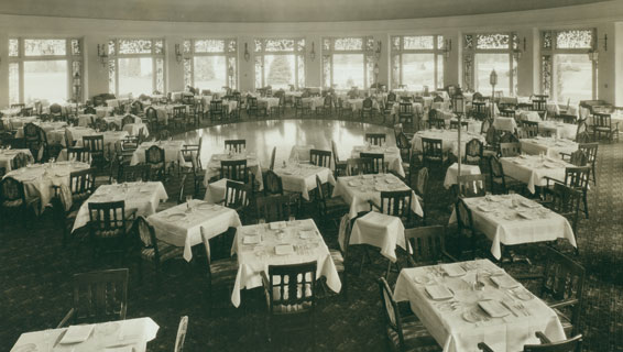 Dining Room circa 1934, now The Circular
