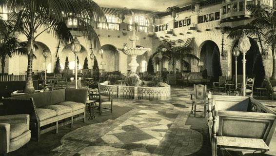 Fountain Lobby, Circa 1934. Castilian Room ... Part 52